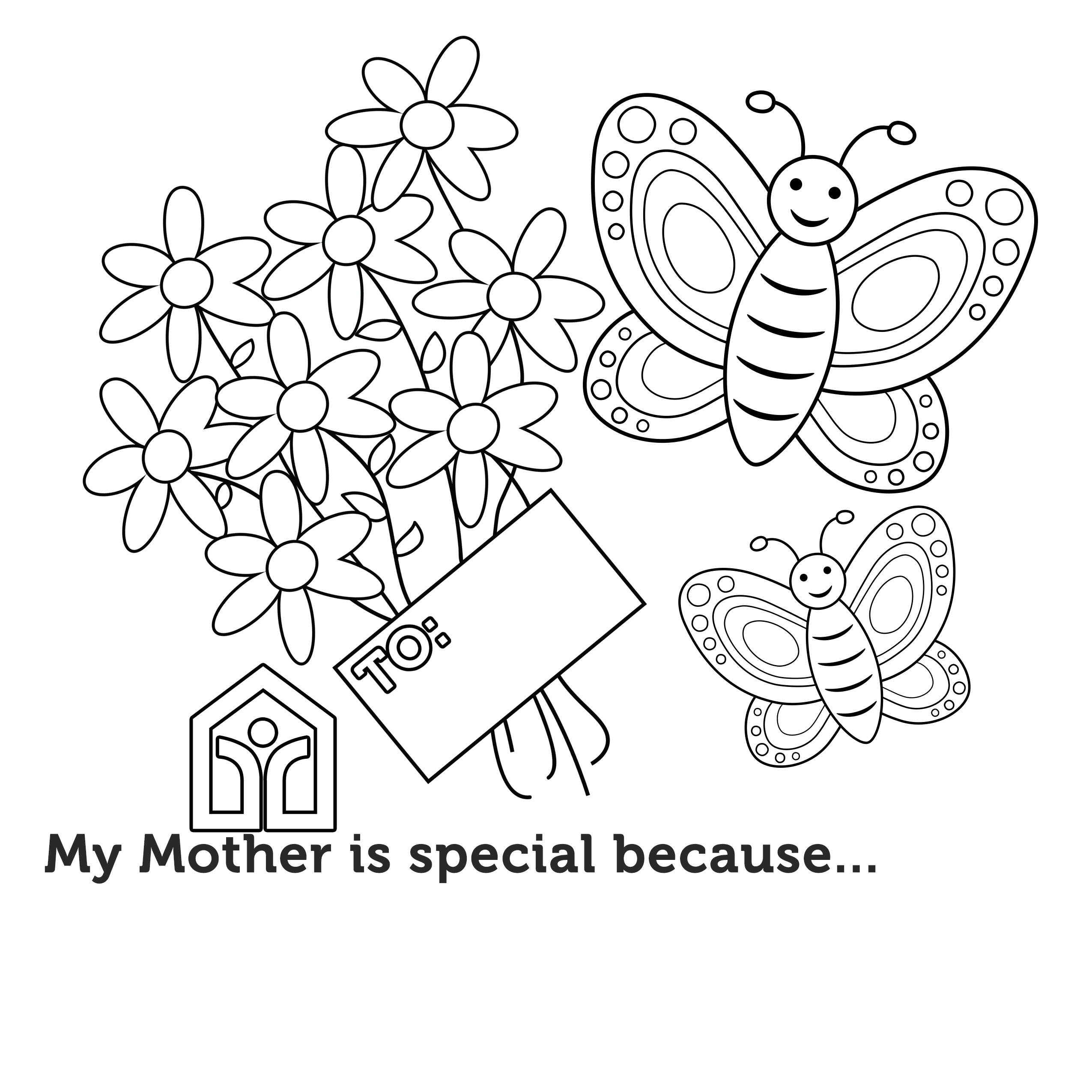 Mother's Day Coloring Contest – MOTHER